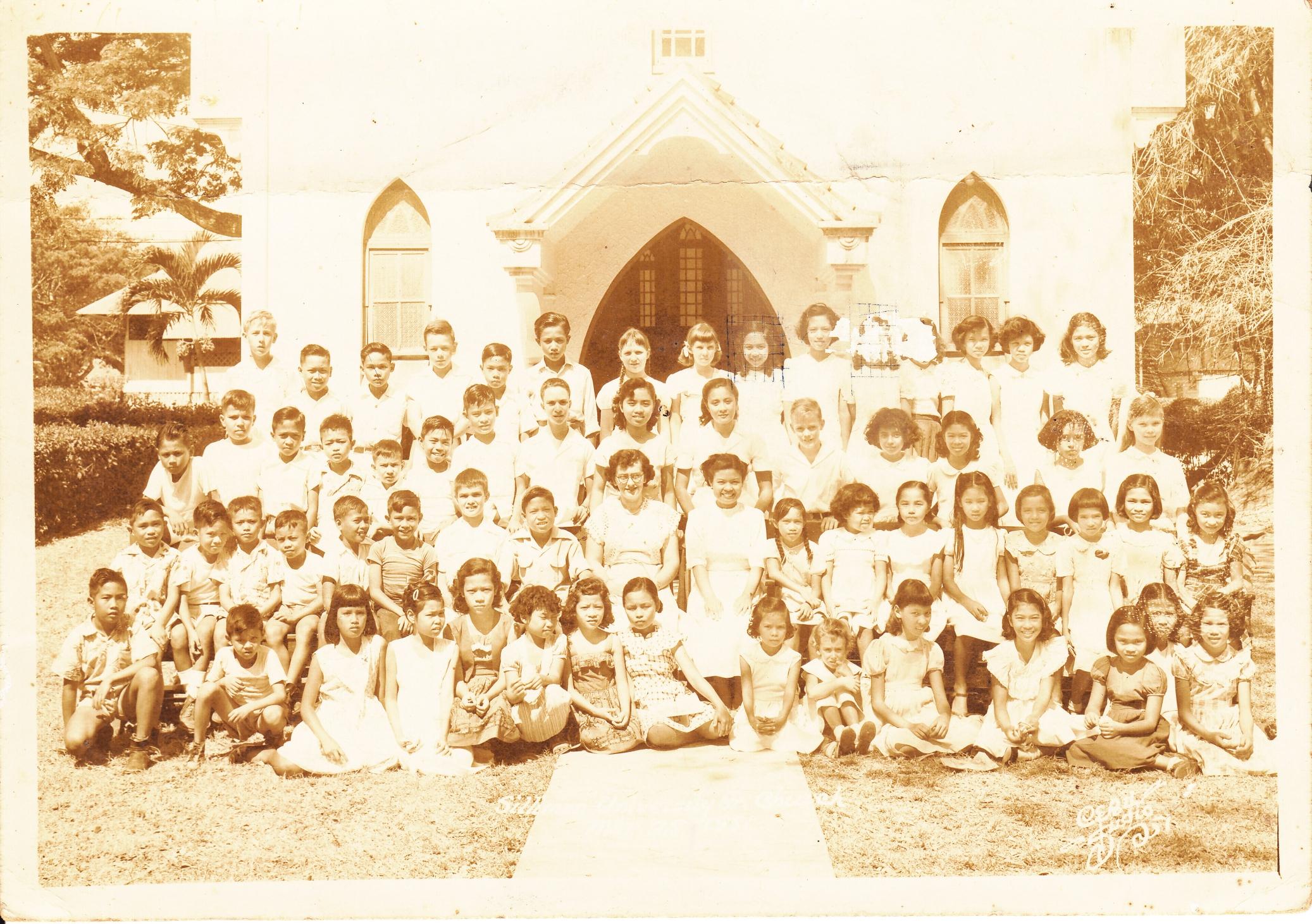 Photo: Silliman University Church, 1951