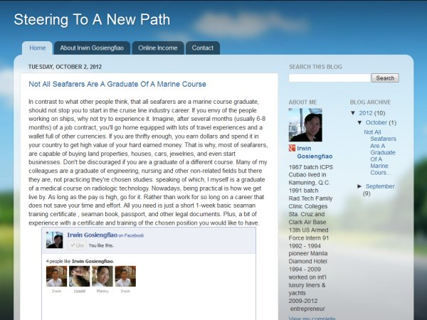Screenshot of Irwin Gosiengfiao's Blog