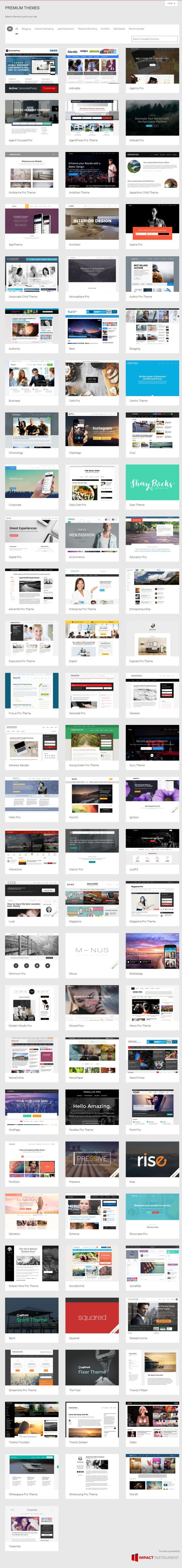 Impact Instrument Screenshot of 85 Premium WordPress Themes